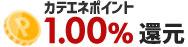 カテエネポイント1.00%還元